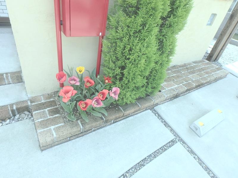 門柱〜下部 植栽スペース